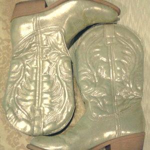2/$50 ADORABLE gold lame metallic cowgirls